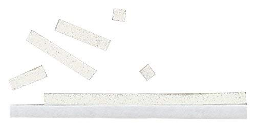 Rayher Hobby 3334002 3D-Klebekissen, 33 Streifen à 0,3 x 10 cm, auf 10 x 10 cm Platte, Zuschnitte, 2 mm stark, beidseitig klebend, weiß