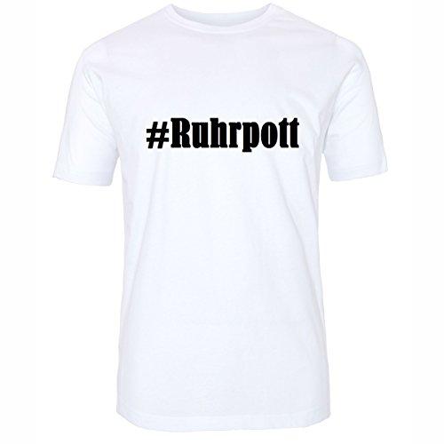 T-Shirt #Ruhrpott Größe M Farbe Weiss Druck schwarz