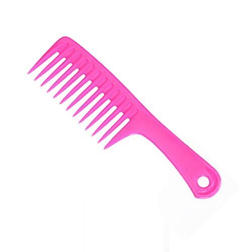 くし、大型ナイフくしプラスチック大歯ワイド歯櫛フラット櫛ハンディポータブルメイクくしシャンプーくし (Color : A)