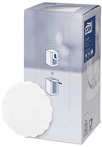 Tork 470246 Untersetzer weiß für Gläser und Tassen in Advanced-Qualität / extra dickes Papier / idealer Schutz vor Feuchtigkeit / Ø 9cm / 12 x 250 Untersetzer (3.000 Stück)