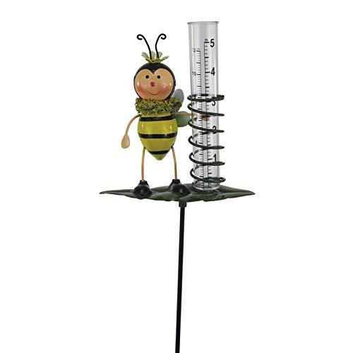 mucplants Gartenstecker Regenmesser Biene mit Messglas
