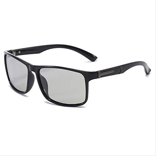Gafas de sol Gafas de sol Polare hombres cambio de color al aire libre conducción pesca marco negro brillante cambio de color