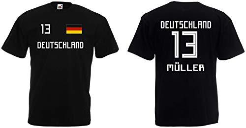 Deutschland Müller T-Shirt Trikot WM-2018 Look