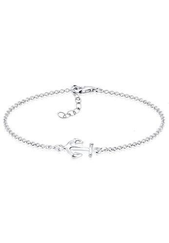 Elli Bracelet Femme Pendentif Ancre Maritime en Argent Sterling 925
