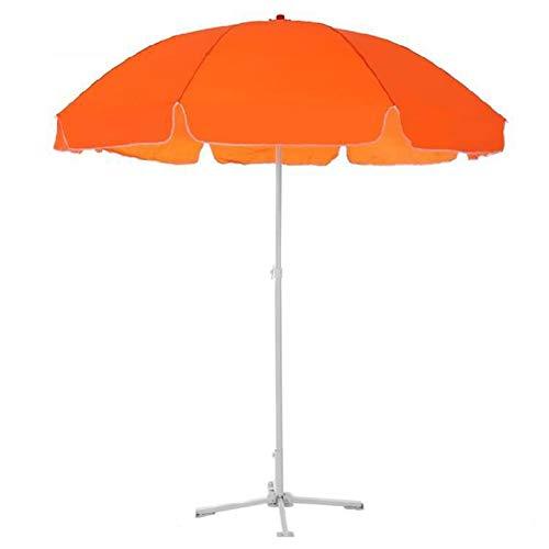 GXYNB Sombrilla de Patio de 10 pies para Exterior, Mesa de Mercado, con fácil inclinación de botón para jardín, terraza, Patio Trasero y Piscina (Color : Orange)