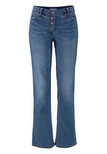 Aniston Jeans Damen Kurzgröße in Blue Used (18 (36))