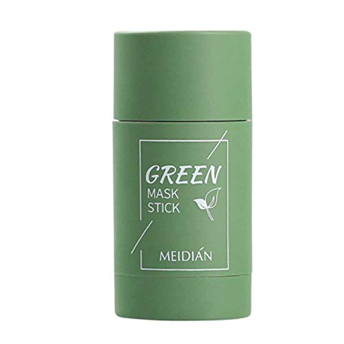 1PC Green Tea/ Clay Stick Mask, Face Moisturizes Oil Control, Deep Clean Pore, Blackhead Remover Acne Deep Cleansing, Improves Skin for Women
