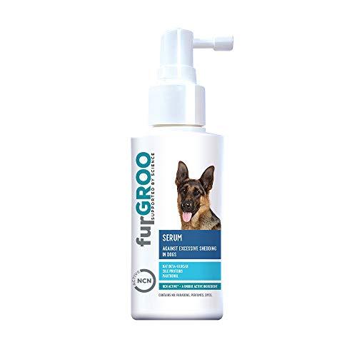 Furgroo - Sérum para el cuidado diario de perros con pelo quebradizo que mudan en exceso y tienen una piel propensa a irritaciones y alergias, enriquecido con NCN Active, 150 ml