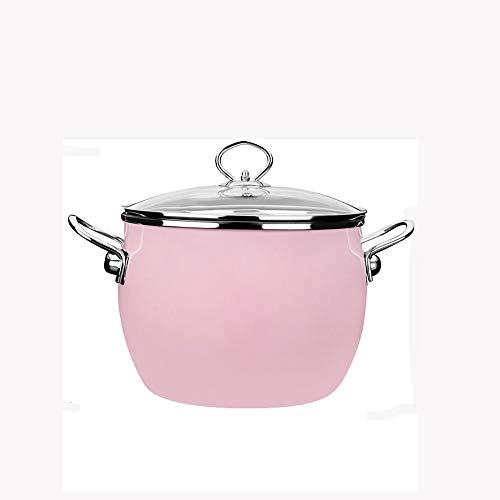 SHYOD Potenamel Sopa De La Olla De Cocción PotStock Olla Leche Estofado De Olla Cocina De Inducción De Llama Universal De Gran Capacidad Cacerola (Color : A)