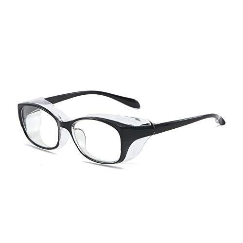 KoKoBin Gafas de protección antivaho y anti saliva, ultra violeta, HD, para hombres y mujeres, color negro