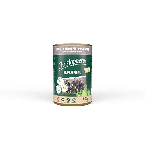 Christopherus Hundemenü Junior, Mit Lamm, Kartoffel, Pastinake, Vollnahrung für Welpen und Junghunde, Nassfutter, 6 x 400 g