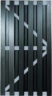 Alpholz Tony WPC-Bretterzaun Tür B90 x H180 cm