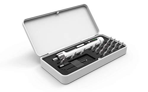 HARTOOL 15 in 1 Mini Akkuschrauber mit USB-Aufladung   Schnurloses Multitool mit Toolbox   Präzisions-DIY-Bitsatz-Werkzeugkoffer   4V Li-on Akku 2 Drehrichtungen LED magnetische Augnahme