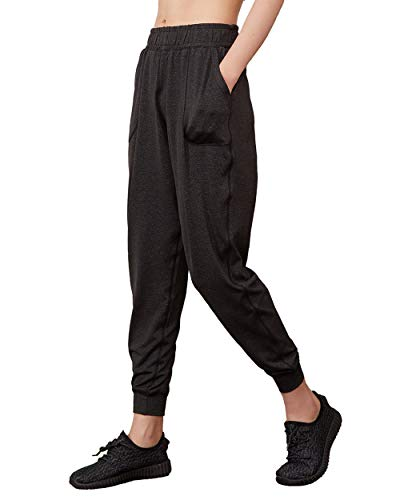 Wtiea Jogginghose Damen Sweathose 7/8 Länge Haremshose Freizeithose Yogahose