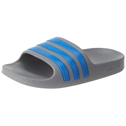 adidas Adilette Aqua K, Scarpe da Ginnastica Unisex-Bambini, Grey Three F17/True Blue/Grey Three F17, 37 EU