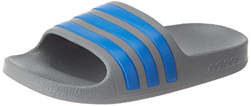 adidas Unisex-Adult Aqua Adilette Sandal, Grey/True Blue/Grey Gr.32