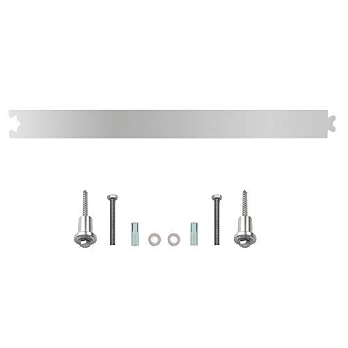 INTERSTEEL - Zwischenschiene Edelstahl gebürstet - Verlängerung für Schiebetüren, Innentüren und Wandschränke- 45 cm