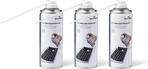 Durable 579619 Druckgasreiniger Powerclean Standard (Druckgasspray) 400 ml (400 ml   3er Pack, Standard)
