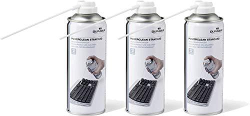 Durable 579619 Druckgasreiniger Powerclean Standard (Druckgasspray) 400 ml (400 ml | 3er Pack, Standard)