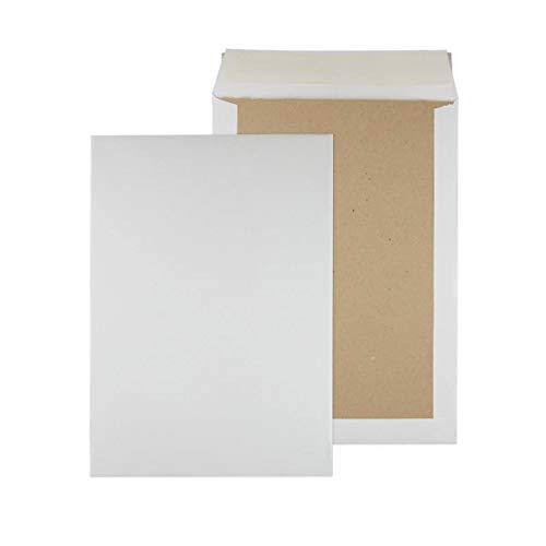Papprückwandtaschen Versandtaschen B4 250x353mm weiß 125 Stück - Div. Formate weiß braun mit oder ohne Fenster
