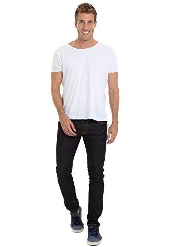 Calça Preta Jeans Masculina Versatti Tradicional Berlin Tamanho 42, Cor Preta
