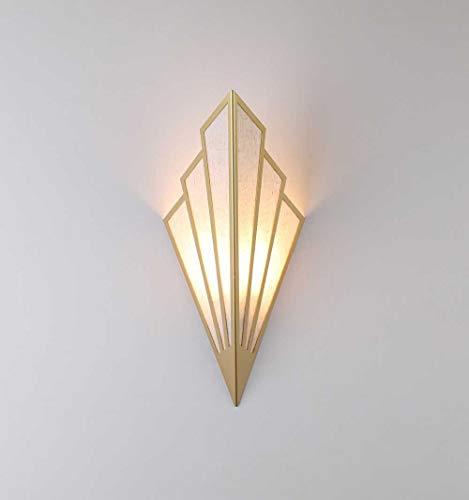 Lámpara LED de pared para pasillo, escalera, estilo europeo con pétalos de flores, 3 W, 300 lúmenes, luz cálida 3000 K, tamaño: 43 x 18 cm, material: hierro forjado + lino.