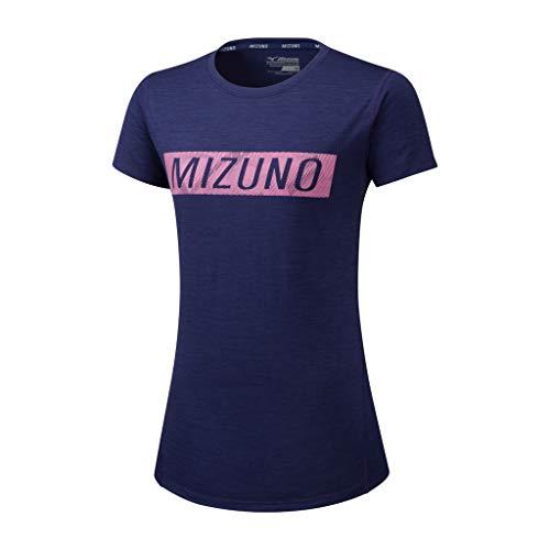 Mizuno T-Shirt Impulse Core Graphic pour Femme - Violet/Rose XS Lilas