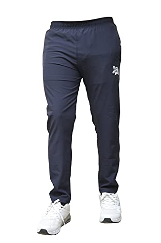 BAWLI BOOCH Out&Fit Men's Regular Fit Track Pants, Plain Track Pant for Men with Side Zipper Pockets Stretchable, Lower for Sports, Outdoor, Athletic, Gym and Yoga, Lightweight & Breathable