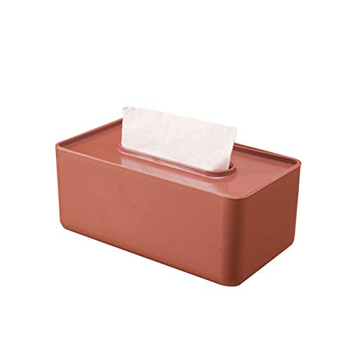 LINGNING Caja de Tejido de plástico Toallito de Tejido húmedo Toallitas Papel Caja de Almacenamiento Papel Toalla Dispensador Inicio Servilleta Organizador Titulares de Tejidos (Color : Brown)