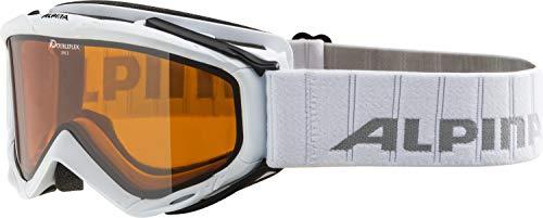 ALPINA SPICE D Skibrille, Unisex– Erwachsene, white, one size