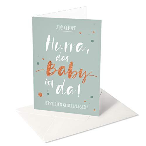 Chica Chica/Grußkarte/Glückwunschkarte zur Geburt/Hurra das Baby ist da