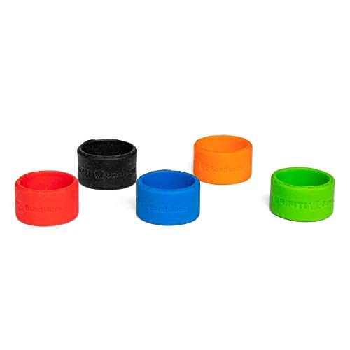 Grifiti Band Joes 1.25 Inch 5 Pack Assorted Colors Posters, Magic, Ring, Pen, Art, Cooking, Wrapping, Cord Wraps, Longer Lasting Silicone Rubber Bands Mini Small