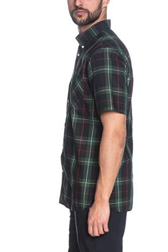Fred Perry Camicia Manica Corta Uomo scozzese Verde/Nero