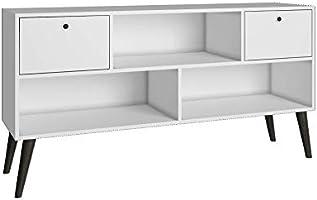 BRV Móveis TV Stand Two Drawers, White, 135 cm x 69.5 cm x 35 cm, BPP 31-129