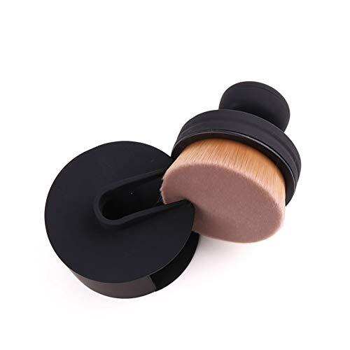 Beito 1 stück Runde Dichtung Make-up Pinsel Kurzen Griff Flaches Gesicht Foundation Concealer Puderpinsel Luftbuerste Verlieren pulver Make-Up Pinsel Makeup Tools