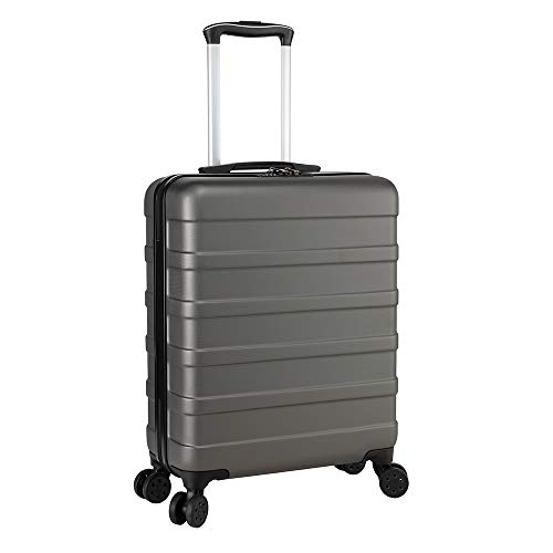 Cabin Max Anode Carry On Hand Luggage Suitcase - Lightweight, Hard Shell, 4 Wheels, Smart USB Port, 3 Digit Lock (Graphite, 55 x 40 x 20 cm)