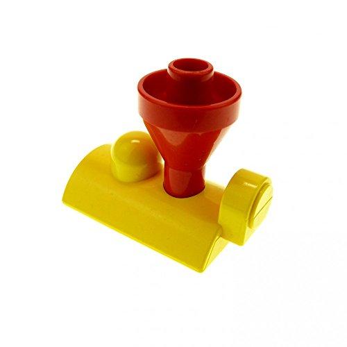 1 x Lego Duplo Aufsatz Zug gelb rot Schornstein Lok Eisenbahn Zahlen Schiebe Zug Lok 4570 c01