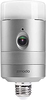 Zmodo Torch 360 Smart Home Garden Door Light Wireless Camera Outdoor Wide Angle Motion Alert Silver