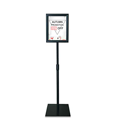29,7 x 42,0 cm Hoch- und Querformat UV-Schutzfolie DIN A3 Inkl Ovales Standrohr aus Aluminium Betriebsausstattung24 Infost/änder Bodenst/änder