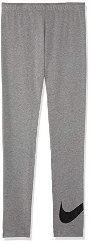 NIKE G NSW Favorites Swsh Tight Pantalones de Deporte, Niñas, Carbon Heather/(Black) (c/O), M