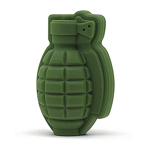 3d Grenade Shape Ice Cube Mold, Party Bar Beverage Silicone Tray Mold, Hollow Ice Mold Single Hole Cake Baking Mold