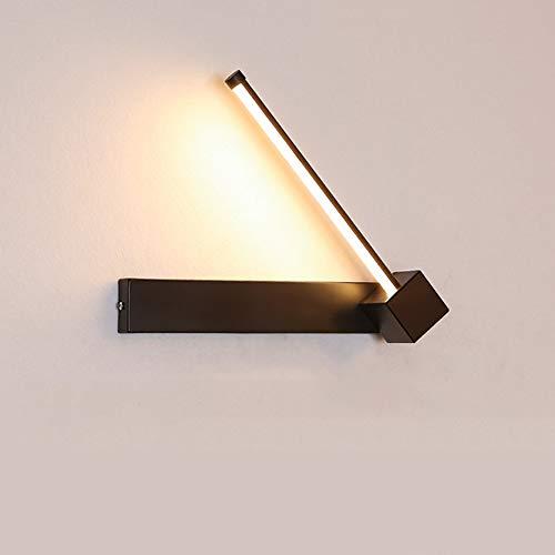 Lámpara de Pared LED Moderna, Aplique Giratoria de 330 Grados, 7w Regulable 3000k-6000k, Iluminación Interior Para Dormitorio, Sala de Estar, Oficina, Estudio, Bar, Restaurante