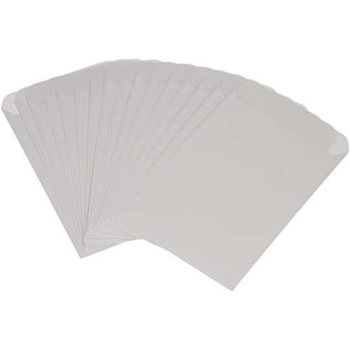 KuschelICH weiße Premium Freudentränen Tüten - Mini Papiertüten - Hochzeit Taschentücher Verpackung Hülle - Flachbeutel (50 STK.)