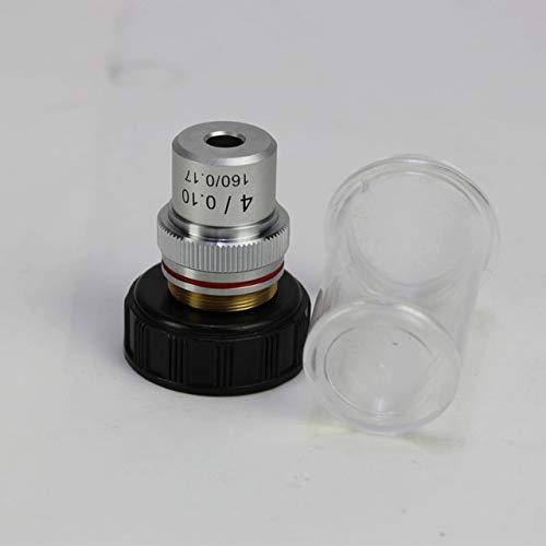 Without brand 4X 10X 20X 40X 60X 100X biomicroscope-System Achromatic Labor Bildung Bio-Mikroskop Biologisches Mikroskop Objektiv (Farbe : 4X)