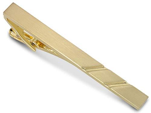 TEROON Krawattenklammer / Krawattennadel gold mattiert