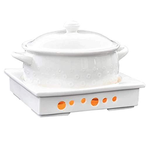 SMEJS Hot Pot pintes Assiette Creuse en céramique Pot Chafer Set Buffet Salle à Manger Party Événement Chauffage Ustensiles Arts de la Table