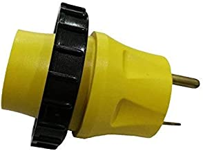 Parkworld 691692 RV Adapter 30A TT-30P Male to Shore Power 30A L5-30R Female with Locking Ring
