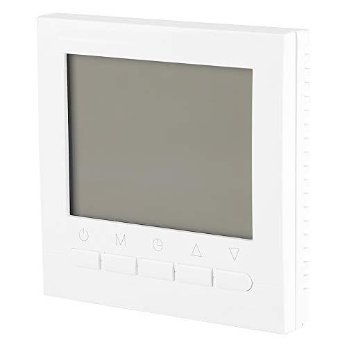 Aukson Termostato Digital, termostato Digital programable WiFi Control Remoto Controlador de Temperatura Ambiente Luz de Fondo Blanca para válvula de Bola motorizada Válvula motorizada