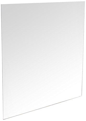 Mungai Mirrors Espejo acrílico, de plástico, con Forma Cuadrada, de Color Plateado y de 45 cm