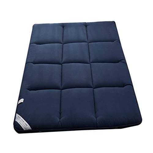 yangdan Dormitory Tatami - Colchón de esponja gruesa para dormir para el piso del estudiante (color: azul, tamaño: 1,8 x 2 m)